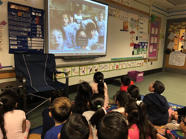 1st Grade Skype's with class in Argentina