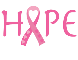 the word hope with the breast cancer ribbon